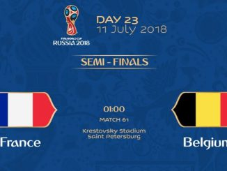 ฝรั่งเศส เบลเยียม ดูบอลโลก 2018 สด